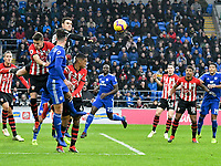 Football - 2018 / 2019 Premier League - Cardiff City vs. Southampton<br /> <br /> Alex McCarthy Southampton punches clear , at Cardiff City Stadium.<br /> <br /> COLORSPORT/WINSTON BYNORTH