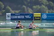 Aiguebelette, FRANCE. GBR LM2- Bow Sam SCRIMGEOUR and Jonathan CLEGG. Sunday, Finals at the  .  10:33:46  Sunday  22/06/2014. [Mandatory Credit; Peter Spurrier/Intersport-images]