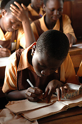 Ghana, Accra, Kokomlemle, 2007. Test preparation at Kwameh Nkrumah Memorial School one day before Ghana's Independence Day celebrations...