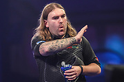 Ryan Searle after his first round victory over Robbie King during the PDC William Hill World Darts Championship at Alexandra Palace, London, United Kingdom on 17 December 2019.