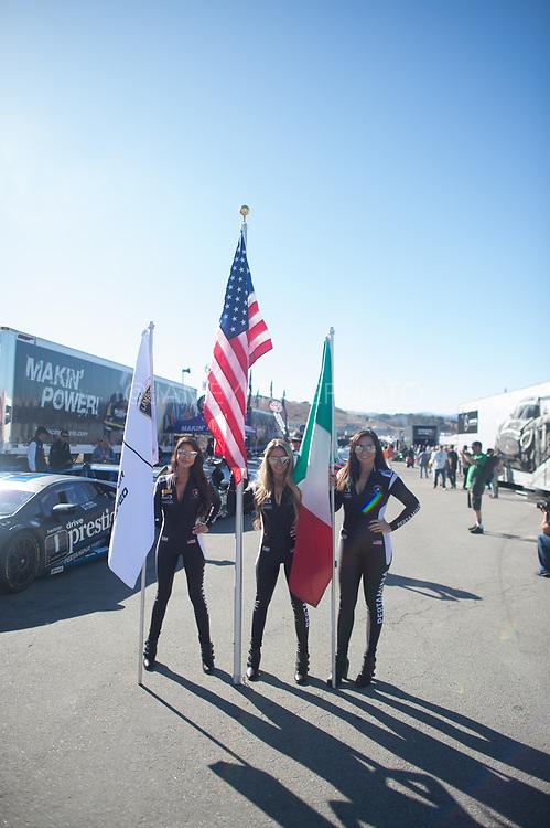 September 21-24, 2017: Lamborghini Super Trofeo at Laguna Seca. Lamborghini grid girl