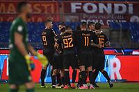 Esultanza Gol Edin Dzeko Roma Goal celebration <br /> Roma 16-09-2017 Stadio Olimpico Calcio Serie A 2017/2018 AS Roma - Verona Foto Andrea Staccioli / Insidefoto