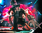 Steven Tyler got in Lexingtons face as Aerosmith took to the stage in Rupp Arena on monday February 2,1998 in Lexington Ky.