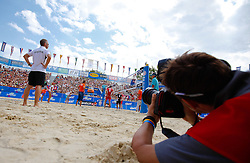 07.08.2011, Klagenfurt, Strandbad, AUT, Beachvolleyball World Tour Grand Slam 2011, im Bild Photographers work, AUT. EXPA Pictures © 2011, PhotoCredit: EXPA/ Gert Steinthaler