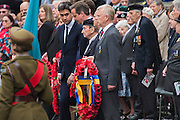 The memorial service in Whitehall attended by Prince Andrew, David Cameron, Nick Clegg and Ed Miliband (seeming to give DC the eye). VE Day 70 commemorations - Three days of events in London and across the UK marking historic anniversary of end of the Second World War in Europe. Trafalgar Square, scene of jubilant celebrations marking the end of the Second World War in Europe on 8 May 1945, plays a central part in a host of national events, which include a Service of Remembrance at the Cenotaph, a concert in Horse Guards Parade, a Service of Thanksgiving at Westminster Abbey, a parade of Service personnel and veterans and a flypast.