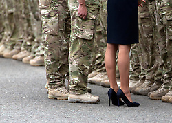 © licensed to London News Pictures. 25/06/2011. Windsor ,UK.  Prince WIlliam and Kate Middleton at Victoria Barracks, Windsor, Berks on Armed Forces day today (25/06/2011) for a Welcome home parade for the Irish Guards following their tour of duty in Helmand province, Afghanistan. See special instructions. Mandatory photo credit: Matt Cetti-Roberts/LNP