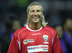 DERBY, ENGLAND - Thursday, September 8, 2011: Wales Legends' Robbie Savage in action against England Legends during a legends match at Pride Park. (Pic by David Rawcliffe/Propaganda)