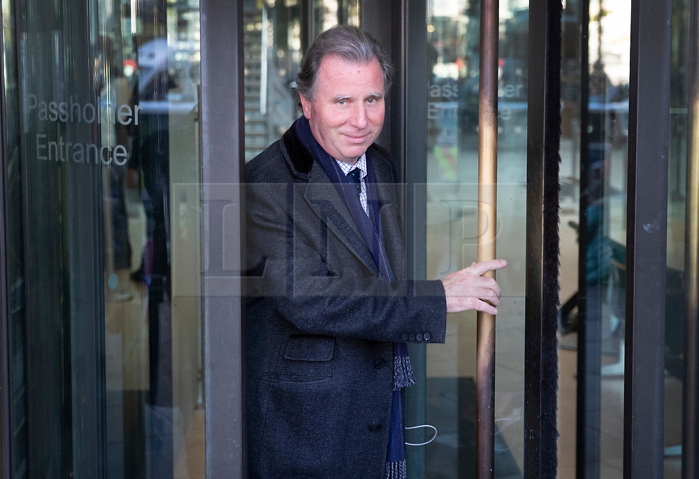 © Licensed to London News Pictures. 19/10/2019. London, UK. Sir Oliver Letwin leaves Parliament after MPs voted for a Brexit deal delay. The Prime Minister's new Brexit deal is being debated and voted on in an historic Saturday sitting in The House of commons today. Photo credit: Peter Macdiarmid/LNP
