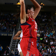 Washington Mystics Rookie Center Stefanie Dolson (31), attempts to pass the ball in second half of an WNBA preseason basketball game between the Chicago Sky and the Washington Mystics Tuesday, May. 13, 2014 at The Bob Carpenter Sports Convocation Center in Newark, DEL