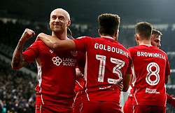 David Cotterill of Bristol City celebrates Tammy Abraham scoring a goal - Mandatory by-line: Robbie Stephenson/JMP - 11/02/2017 - FOOTBALL - iPro Stadium - Derby, England - Derby County v Bristol City - Sky Bet Championship