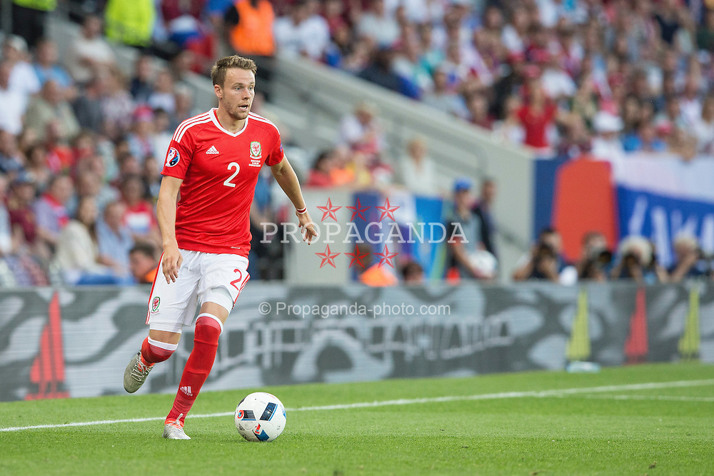 TOULOUSE, FRANCE - Monday, June 20, 2016: Wales' Chris Gunter during the final Group B UEFA Euro 2016 Championship match against Russia at Stadium de Toulouse. (Pic by Paul Greenwood/Propaganda)