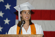 Class president Emily Jean Brumfield speaks during the Vandalia-Butler High School commencement at the BHS Student Activity Center in Vandalia, Friday, June 3, 2011.