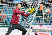 West Ham United goalkeeper Adrian  during the The FA Cup match between Blackburn Rovers and West Ham United at Ewood Park, Blackburn, England on 21 February 2016. Photo by Simon Davies.
