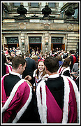 STUDENTS CELEBRATE THEIR DEGREES DURING GRADUATION WEEK AT ST ANDREWS UNIVERSITY.