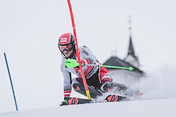 03.01.2020, Hochstein, Lienz, AUT, OeSV, Training Slalom, im Bild Christian Hirschbühl (AUT) // Christian Hirschbühl of Austria during a Slalom training session in preparation for the upcoming FIS Alpine Skiing World Cup Zagreb at the Hochstein in Lienz, Austria on 2020/01/03. EXPA Pictures © 2019, PhotoCredit: EXPA/ Johann Groder