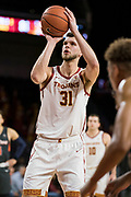 Southern California Trojans forward Nick Rakocevic (31) shoots a free throw against the Pepperdine Waves during an NCAA college basketball game, Tuesday, Nov. 19, 2019, in Los Angeles. USC defeated Pepperdine 91-84. (Jon Endow/Image of Sport)