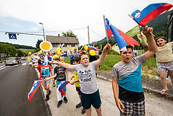 Supporters in Rimske Toplice during 1st Stage of 26th Tour of Slovenia 2019 cycling race between Ljubljana and Rogaska Slatina (171 km), on June 19, 2019 in  Slovenia. Photo by Vid Ponikvar / Sportida