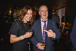 28 January 2020 - Ian Hislop and Victoria Hislop at the Costa Book Awards 2019 held at Quaglino's, 16 Bury Street, London.<br /> <br /> Photo by Dominic O'Neill/Desmond O'Neill Features Ltd.  +44(0)1306 731608  www.donfeatures.com