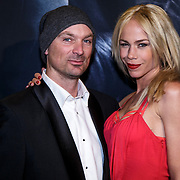 NLD/Amsterdam/20150211 - Premiere Fifty Shades of Grey, Nicolette Kluijver en partner Joost Staudt