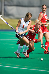 Virginia Cavaliers B/M Haley Carpenter (3)..The Virginia Cavaliers field hockey team fell to the Boston University Terriers 3-0 at the University Hall Turf Field in Charlottesville, VA on September 23, 2007