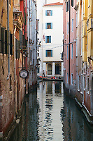 Gondola Ride in Small Canal in San Marco, Venice, Italy