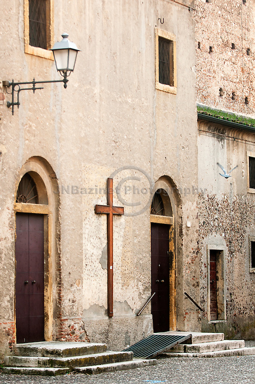 The rear entry to chiesa di San Pietro in Cattedra provides a ramp for accessibility to this historic landmark that dates back to 1753.
