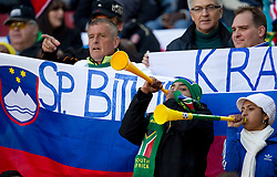 Slovenian fans during the 2010 FIFA World Cup South Africa Group C match between Slovenia and USA at Ellis Park Stadium on June 18, 2010 in Johannesberg, South Africa. (Photo by Vid Ponikvar / Sportida)