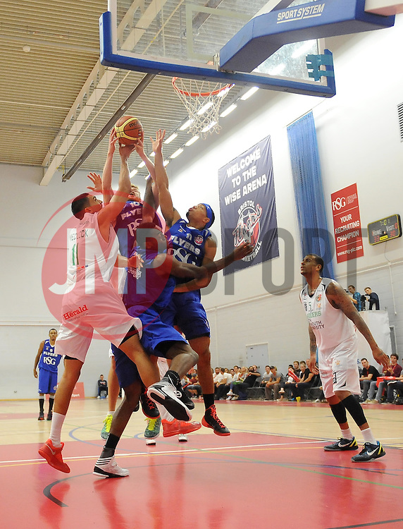 - Photo mandatory by-line: Joe Meredith/JMP - Mobile: 07966 386802 - 27/09/2014 - SPORT - Basketball - Bristol - SGS Wise Campus - Bristol Academy Flyers v Plymouth Uni Raiders - British Basketball League