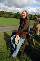 SARAH ABRAHAMS at the Finch & Partners Clay Pigeon Shoot in aid of Battersea Dogs Home at the Holland & Holland Shooting Ground, Ruislip, Middlesex on 17th October 2007.<br />