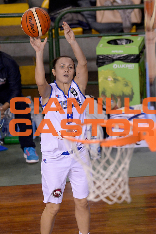 DESCRIZIONE : Lucca Nazionale Italia Femminile Qualificazione Europeo Femminile Italia Albania Italy Albania<br /> GIOCATORE : Giulia Gatti<br /> CATEGORIA : tiro<br /> SQUADRA : Italia Italy<br /> EVENTO : Qualificazione Europeo Femminile<br /> GARA : Italia Albania Italy Albania<br /> DATA : 21/11/2015 <br /> SPORT : Pallacanestro<br /> AUTORE : Agenzia Ciamillo-Castoria/Max.Ceretti<br /> Galleria : FIP Nazionali 2015<br /> Fotonotizia : Lucca Nazionale Italia Femminile Qualificazione Europeo Femminile Italia Albania Italy Albania