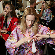 Milan, Italy, September 24, 2010. Backstage at Etro during the Milan Women's Fashion Week Spring/Summer 2011.