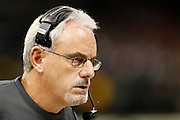 NEW ORLEANS, LA - NOVEMBER 11:  Interim Head Coach Joe Vitt of the New Orleans Saints during a game against the Atlanta Falcons at Mercedes-Benz Superdome on November 11, 2012 in New Orleans, Louisiana.  The Saints defeated the Falcons 31-27.  (Photo by Wesley Hitt/Getty Images) *** Local Caption *** Joe Vitt