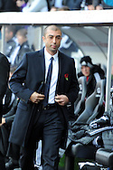 Chelsea manager Roberto Di Matteo looks on. Barclays Premier league, Swansea city v Chelsea at the Liberty Stadium in Swansea, Swansea, South Wales on Saturday 3rd November 2012. pic by Andrew Orchard, Andrew Orchard sports photography,