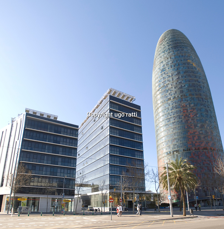 The Agbar Tower is a skyscraper near the Plaça de les Glòries, in the Sant Marti district of Barcelona.