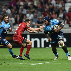 Nemani Nadolo of Montpellier during the Top 14 semi final match between Montpellier Herault Rugby and Lyon on May 25, 2018 in Lyon, France. (Photo by Alexandre Dimou/Icon Sport)