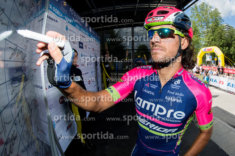 Ferrari Roberto (Italy) of Lampre Merida during Stage 2 of 23rd Tour of Slovenia 2016 / Tour de Slovenie from Nova Gorica to Golte  (217,2 km) cycling race on June 17, 2016 in Slovenia. Photo by Urban Urbanc / Sportida
