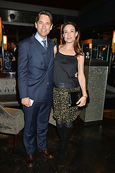 DOUGRAY SCOTT and CLAIRE FORLANI at the OMEGA VIP dinner hosted by Cindy Crawford and OMEGA President Mr. Stephen Urquhart held at aqua shard', Level 31, The Shard, 31 St Thomas Street, London, SE1 9RY on 10th December 2014.