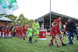 RHOSYMEDRE, WALES - Sunday, May 5, 2019: Connah's Quay Nomads's goalkeeper John Danby walks out before the FAW JD Welsh Cup Final between Connah's Quay Nomads FC and The New Saints FC at The Rock. (Pic by David Rawcliffe/Propaganda)