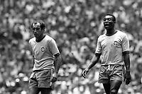 Fotball<br /> Foto: imago/Digitalsport<br /> NORWAY ONLY<br /> <br /> 21.06.1970  <br /> <br /> Gerson (li) neben Pele (beide Brasilien)