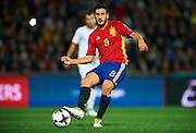 GRANADA, SPAIN - NOVEMBER 12:  Koke Resurreccion of Spain in action during the FIFA 2018 World Cup Qualifier between Spain and FYR Macedonia at  on November 12, 2016 in Granada, .  (Photo by Aitor Alcalde Colomer/Getty Images)