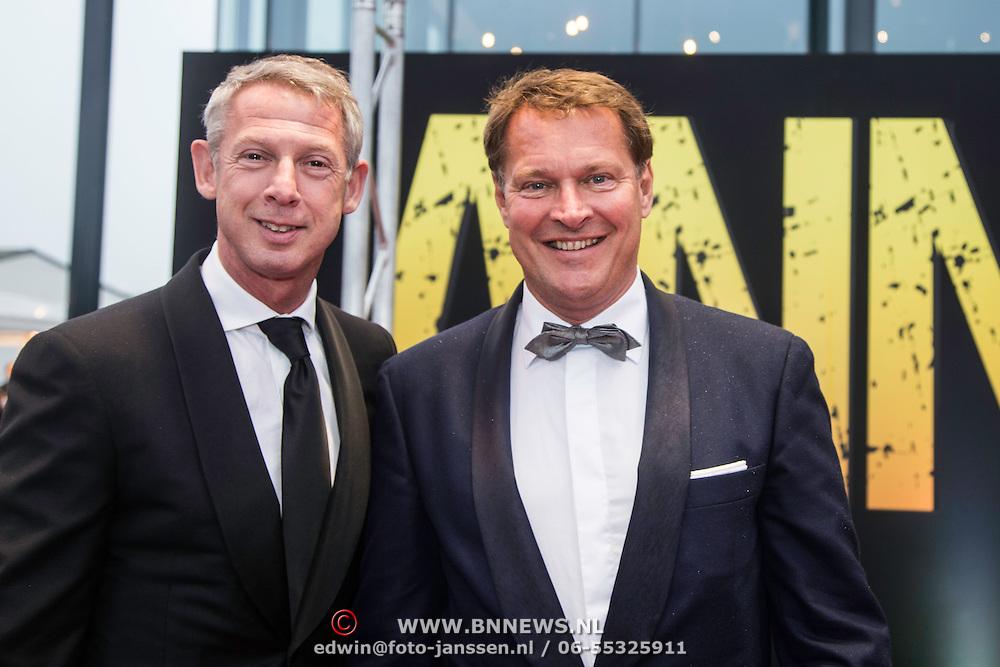 NLD/Amsterdam/20140508 - Wereldpremiere Musical Anne, Albert Verlinde en partner Onno Hoes
