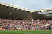 The stadium is full and bathed in sunlight during the Friendly International match match between England and Australia at the Stadium Of Light, Sunderland, England on 27 May 2016. Photo by Mark P Doherty.