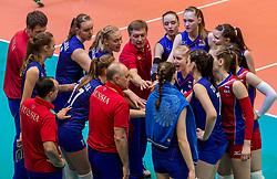 02-04-2017 NED:  CEV U18 Europees Kampioenschap vrouwen dag 2, Arnhem<br /> Nederland - Rusland 3-0 / Time out Rusland