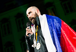Vid Kavticnik, team's captain during reception of Slovenian National Handball Men team after they placed third at IHF World Handball Championship France 2017, on January 30, 2017 in Mestni trg, Ljubljana centre, Slovenia. Photo by Vid Ponikvar / Sportida