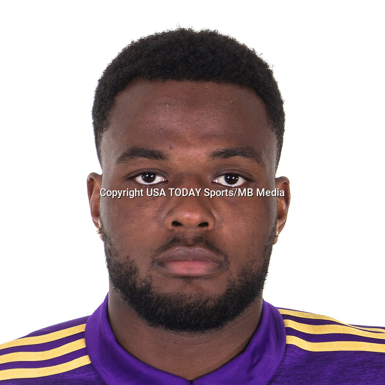 Feb 25, 2017; USA; Orlando City SC player Cyle Larin poses for a photo. Mandatory Credit: USA TODAY Sports