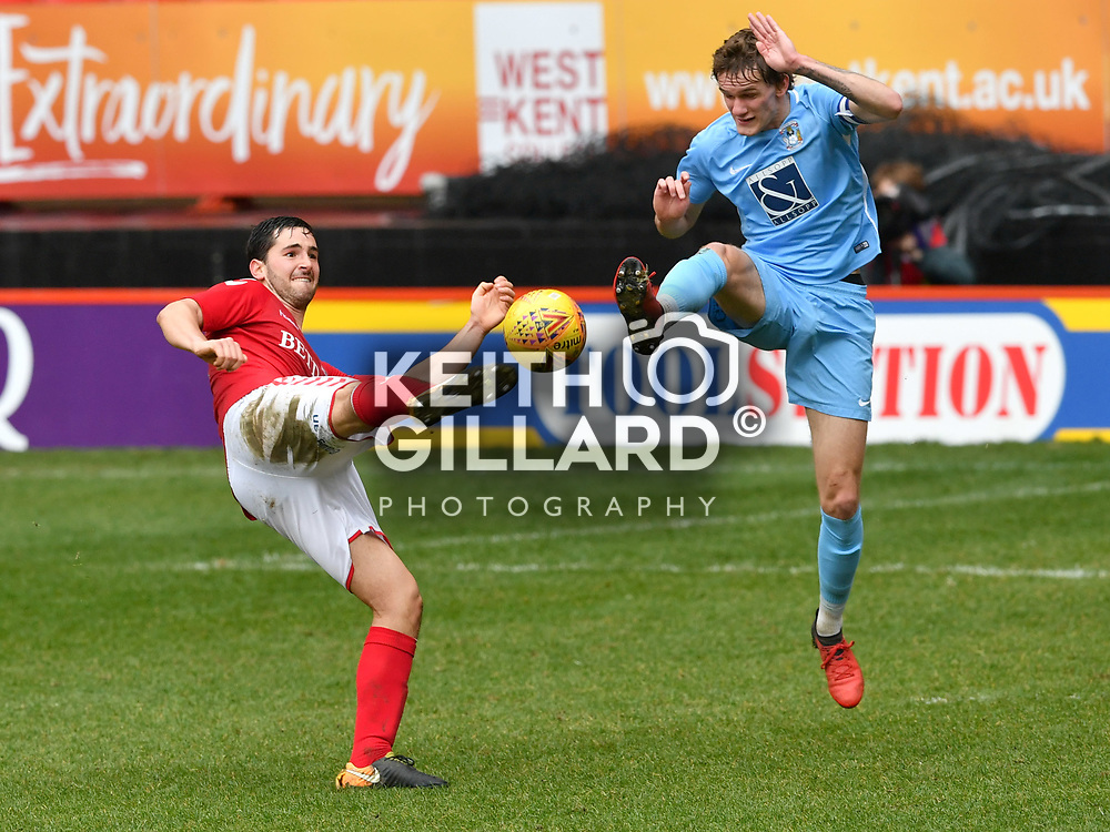 Charlton Athletic U23's v Coventry City U23's, U23 Professional Development League, The Valley, 12 March  2018. <br /> <br /> <br /> Image by Keith Gillard