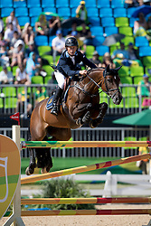 Bengtsson Rolf Goran, SWE, Unita Ask<br /> owner of the horse of Jerome with arms in the air<br /> Olympic Games Rio 2016<br /> © Hippo Foto - Dirk Caremans<br /> 14/08/16