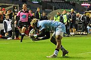 Niko Matawula during the 1872 Challenge Cup, Guinness Pro 14 2018_19 match between Edinburgh Rugby and Glasgow Warriors at BT Murrayfield Stadium, Edinburgh, Scotland on 22 December 2018.