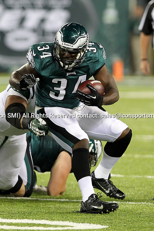 August 29 2013: Philadelphia Eagles running back Bryce Brown (34) during the pre-season game between the New York Jets and the Philadelphia Eagles played at Met Life Stadium in East Rutherford,NJ. The New York Jets beat the Philadelphia eagles 27-20.