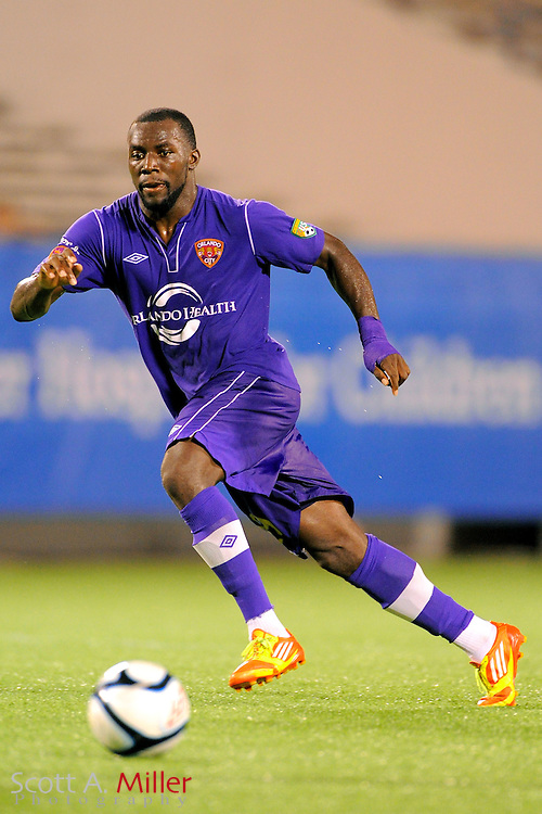 Orlando City Lions midfielder Jean Alexandre (19) during the Lions game against the Wilmington Hammerheads at the Florida Citrus Bowl on July 25, 2012 in Orlando, Florida. ..©2012 Scott A. Miller